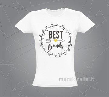 """Moteriški marškinėliai """"Geriausia draugė"""""""