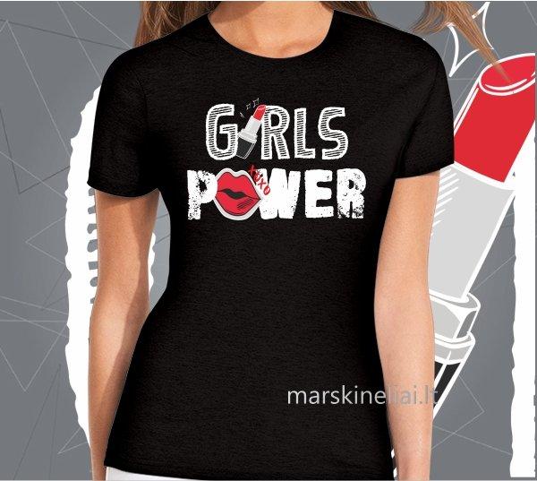 """Moteriški marškinėliai """"Girls power"""""""