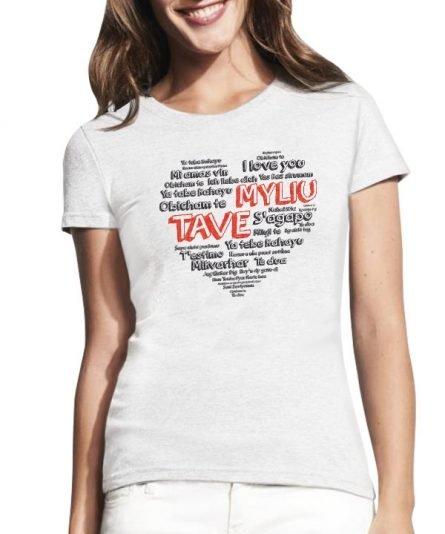 """Moteriški marškinėliai """"Meilės kalbos"""" , moteriski marskineliai su spauda, marskineliai poroms su spauda, marskineliai merginai, originalus poru marskineliai"""