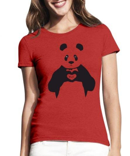 """Moteriški marškinėliai """"Panda"""" , Moteriski marskineliai su spauda, marskineliai poroms su spauda, marskineliai merginai, originalus marskineliai poroms"""