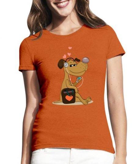 """Moteriški marškinėliai """"Mylimas šuniukas"""" , moteriski marskineliai su spauda, marskineliai su nuotrauka, marskineliai su uzrasu, marskineliai poroms, originalus marskineliai poroms, dovana merginai"""