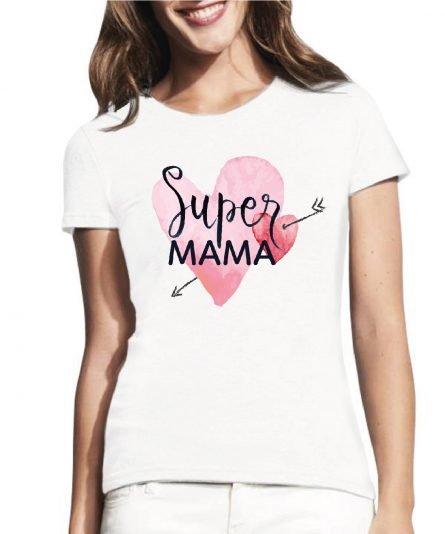 moteriski marskineliai mano mama super, marskineliai su spauda, marskineliai mamai, marskineliai mamos dienai
