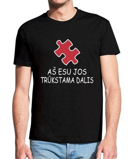 """Vyriški marškinėliai """"Puzlė"""" , Vyriski marskineliai su spauda, marskineliai poroms su spauda, marskineliai vaikinui, originalus marskineliai poroms"""
