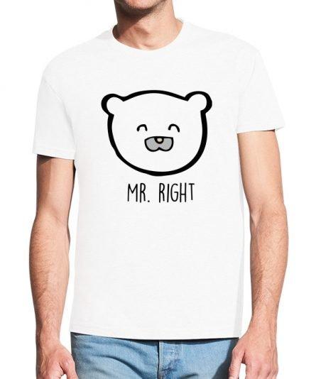 """Vyriški marškinėliai """"Right"""" , vyriski marskineliai su spauda, poru marskineliai su spauda, originalus marskineliai poroms, marskineliai vaikinui"""