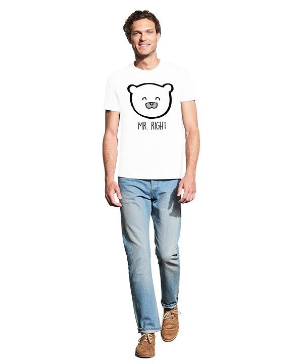 """Vyriški marškinėliai """"Right"""" , vyriski marskineliai su spauda, poru marskineliai su spauda, originalus marskineliai poroms, marskineliai vaikinui su uzrasu"""