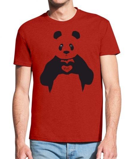 """Vyriški marškinėliai """"Panda 2"""" , Vyriski marskineliai su spauda, marskineliai poroms su spauda, marskineliai vaikinui, originalus marskineliai poroms"""