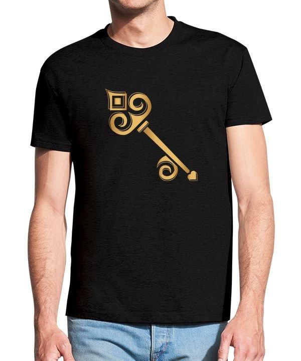 """Vyriški marškinėliai """"Auksinis raktas"""" , vyriski marskineliai su spauda, marskineliai su uzrasu, marskineliai su nuotrauka, poru marskineliai, marskineliai poroms, marskineliai vaikinui"""