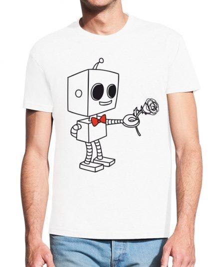 """Vyriški marškinėliai """"Robotukas"""" , vyriski marskineliai su spauda, marskineliai su nuotrauka, marskineliai su uzrasu, poru marskineliai, marskineliai vaikinui"""