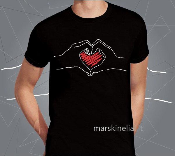 """Vyriški marškinėliai """"Širdutė"""""""