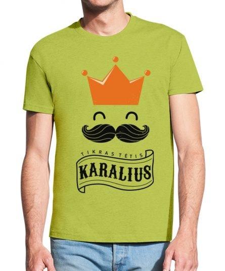 """Vyriški marškinėliai """"Tėtis tikras karalius"""" , vyriski marskineliai su spauda, marskineliai su uzrasu, marskineliai su nuotrauka, marskineliai teciui, dovana teciui"""