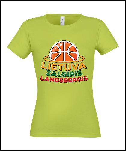 """Moteriški marškinėliai """"Žalia patriotė"""", Marskineliai.lt, susikurkite savo marškinėlius"""