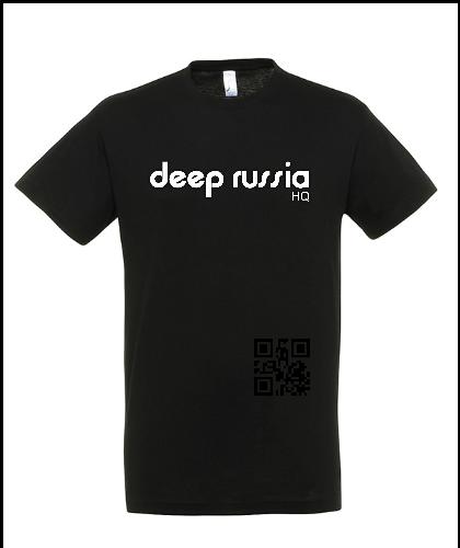 """Universalūs marškinėliai """"Deep Russia HQ Black"""", Marskineliai.lt, susikurkite savo marškinėlius"""