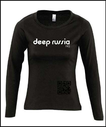 """Moteriški marškinėliai """"Deep Russia HQ Woman"""", Marskineliai.lt, susikurkite savo marškinėlius"""