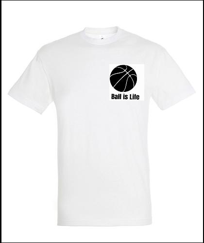"""Universalūs marškinėliai """"Ball Is Life"""", Marskineliai.lt, susikurkite savo marškinėlius"""