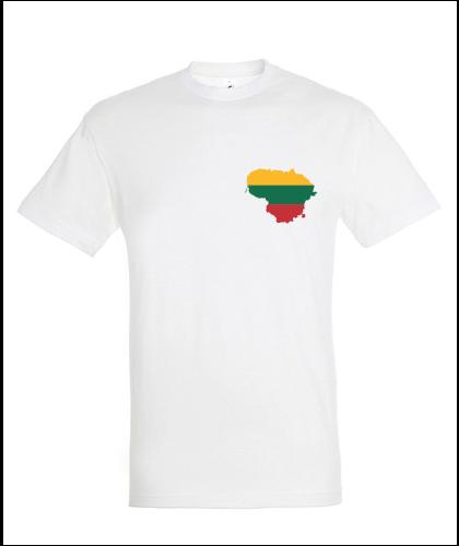 """Universalūs marškinėliai """"Lietuva (Dvipusė)"""", Marskineliai.lt, susikurkite savo marškinėlius"""