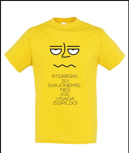 """Universalūs marškinėliai """"Sentencija"""", Marskineliai.lt, susikurkite savo marškinėlius"""