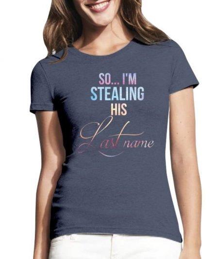 """Moteriški marškinėliai """"Sužadėtiniai"""" , marskineliai su uzrasu, marskineliai suzadetiniams, poru marskineliai su uzrasu, marskineliai merginai"""