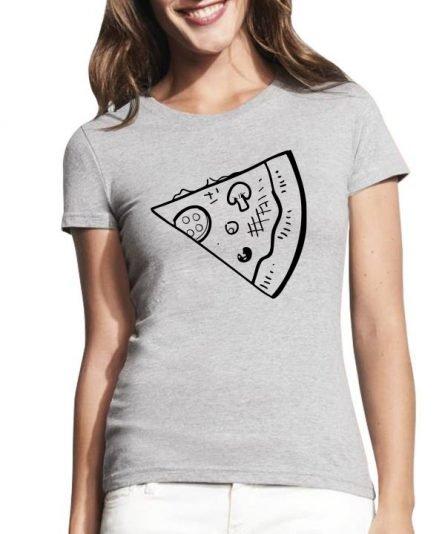 """Moteriški marškinėliai """"Poros pica"""" , marskineliai su uzrasu, marskineliai su pica, marskineliai merginoms, poru marskineliai, populiarus marskineliai"""