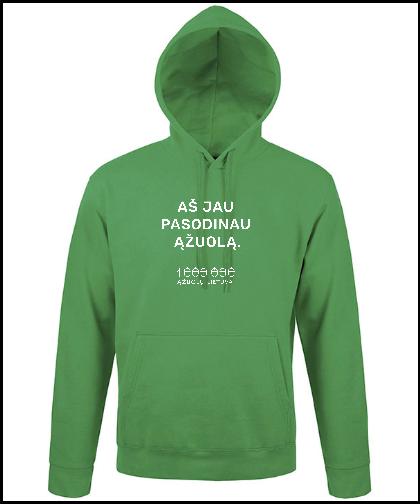 """Universalus džemperis """"Green"""", Marskineliai.lt, susikurkite savo marškinėlius"""