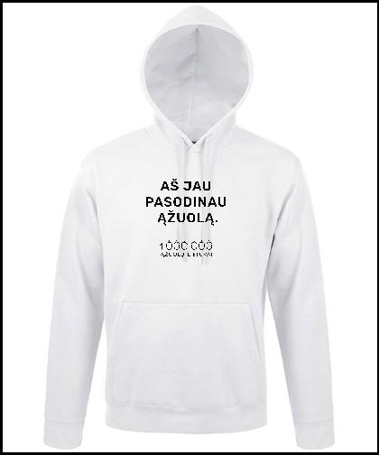 """Universalus džemperis """"White"""", Marskineliai.lt, susikurkite savo marškinėlius"""