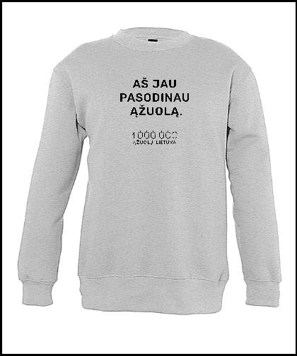 """Vaikiškas džemperis """"Grey"""", Marskineliai.lt, susikurkite savo marškinėlius"""