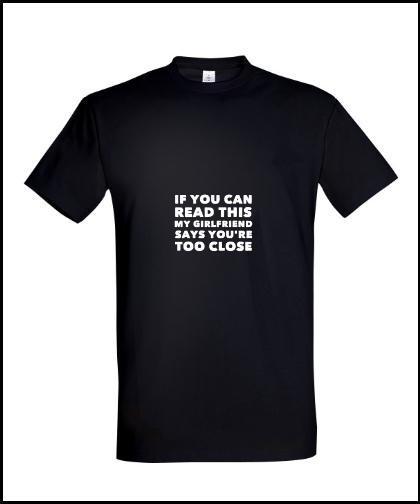 """Universalūs marškinėliai """"For boyfriend"""", Marskineliai.lt, susikurkite savo marškinėlius"""