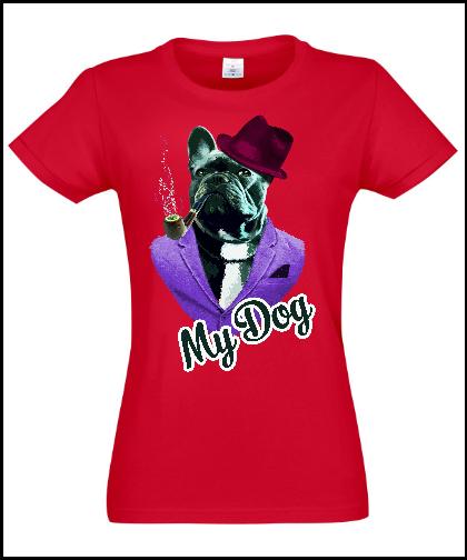 """Moteriški marškinėliai """"Dog In Fashion"""", Marskineliai.lt, susikurkite savo marškinėlius"""