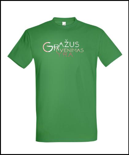"""Universalūs marškinėliai """"GYGJTYT Žalia"""", Marskineliai.lt, susikurkite savo marškinėlius"""