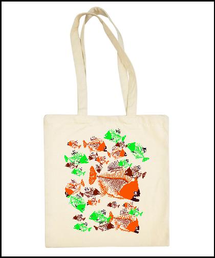 """Medvilninis pirkinių krepšys """"Dead Fishes"""", Marskineliai.lt, susikurkite savo marškinėlius"""