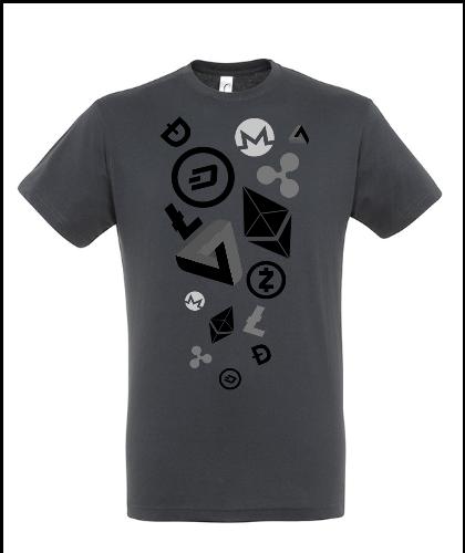"""Universalūs marškinėliai """"Cryptocurrency 02"""", Marskineliai.lt, susikurkite savo marškinėlius"""