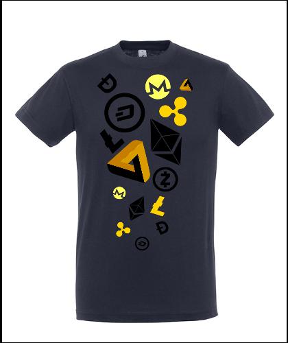 """Universalūs marškinėliai """"Cryptocurrency 03"""", Marskineliai.lt, susikurkite savo marškinėlius"""