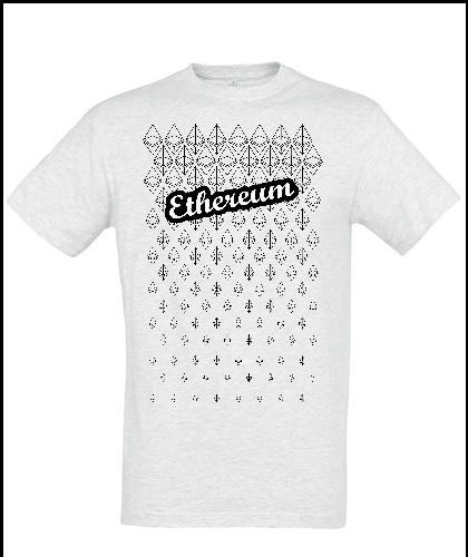 """Universalūs marškinėliai """"Ethereum 01"""", Marskineliai.lt, susikurkite savo marškinėlius"""