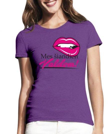 """Moteriški marškinėliai """"Šiandien valdom"""" , mergvakario marskineliai su uzrasu, marskineliai nuotakai, mergvakario atributika, pamergiu marskineliai, marskineliai su spauda"""