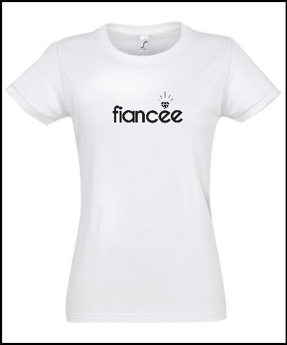 """Moteriški marškinėliai """"Fiancee"""", Marskineliai.lt, susikurkite savo marškinėlius"""