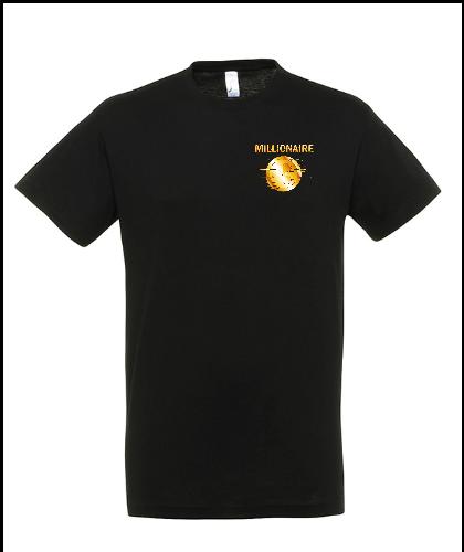 """Universalūs marškinėliai """"Gold Millionaire"""", Marskineliai.lt, susikurkite savo marškinėlius"""