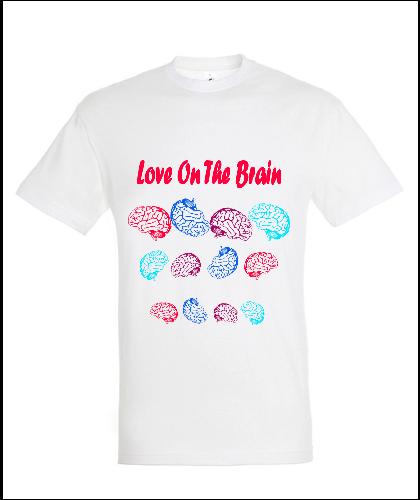 """Universalūs marškinėliai """"Brain love"""", Marskineliai.lt, susikurkite savo marškinėlius"""