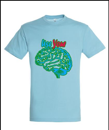 """Universalūs marškinėliai """"Use Your Brain"""", Marskineliai.lt, susikurkite savo marškinėlius"""