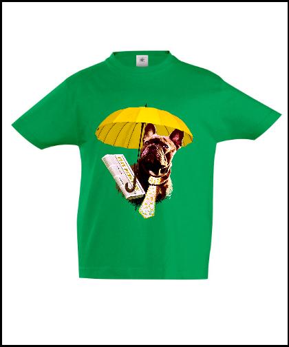 """Vaikiški marškinėliai """"Dog in Yellow"""", Marskineliai.lt, susikurkite savo marškinėlius"""