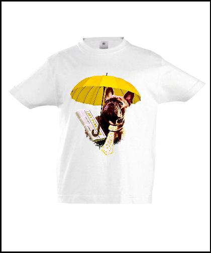 """Vaikiški marškinėliai """"Dog in Yellow 2"""", Marskineliai.lt, susikurkite savo marškinėlius"""