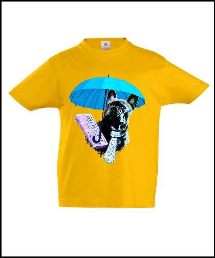 """Universalūs marškinėliai """"Dog in Blue"""", Marskineliai.lt, susikurkite savo marškinėlius"""