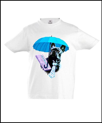 """Universalūs marškinėliai """"Dog in Blue 02"""", Marskineliai.lt, susikurkite savo marškinėlius"""