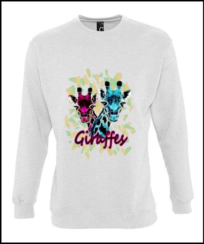 """Universalus džemperis """"Giraffes Universalus džemperis """"New supreme'', Marskineliai.lt, susikurkite savo marškinėlius"""