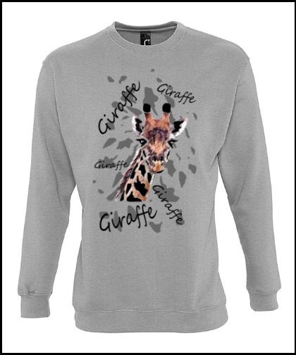 """Universalus džemperis """"Giraffe 1Universalus džemperis """"New supreme'', Marskineliai.lt, susikurkite savo marškinėlius"""