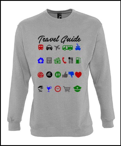 """Universalus džemperis """"Travel GuideUniversalus džemperis """"New supreme'', Marskineliai.lt, susikurkite savo marškinėlius"""