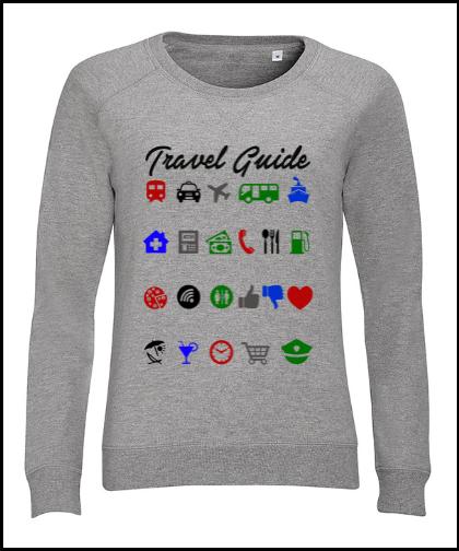 """Moteriškas džemperis """"Travel Guide"""", Marskineliai.lt, susikurkite savo marškinėlius"""