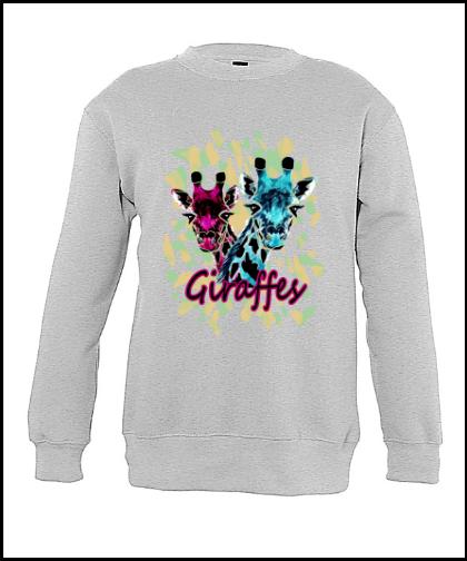 """Vaikiškas džemperis """"Giraffes Kids"""", Marskineliai.lt, susikurkite savo marškinėlius"""