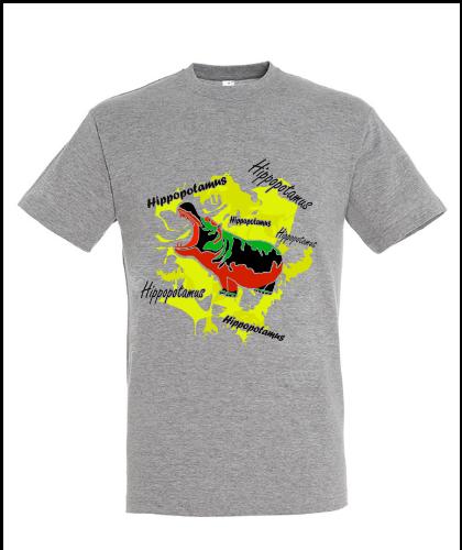 """Universalūs marškinėliai """"Hippopotamus Yellow"""", Marskineliai.lt, susikurkite savo marškinėlius"""