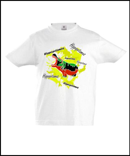 """Vaikiški marškinėliai """"Hippopotamus Yellow"""", Marskineliai.lt, susikurkite savo marškinėlius"""