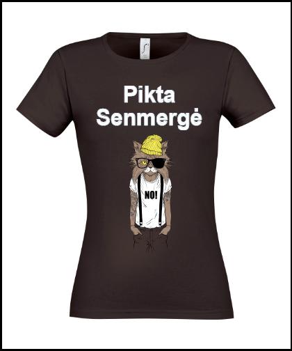 """Moteriški marškinėliai """"Pikta Senmergė"""", Marskineliai.lt, susikurkite savo marškinėlius"""