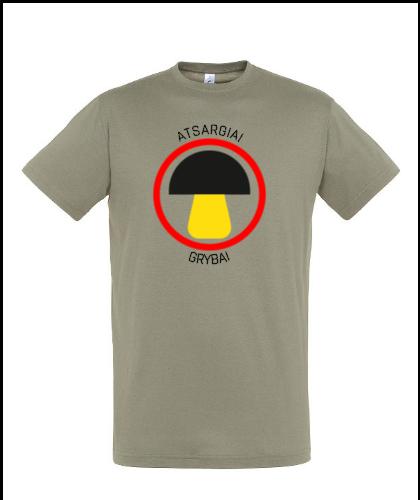 """Universalūs marškinėliai """"atsargiai grybai"""", Marskineliai.lt, susikurkite savo marškinėlius"""